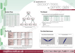 """An application of decision trees to genetic data"", research poster. (2006) (Contact details are scrambled)"