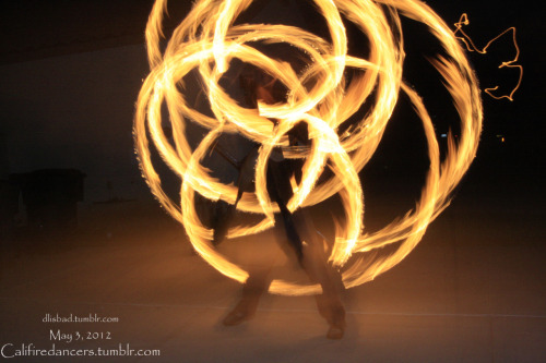 califiredancers:  David spinning fire staff May 3, 2012 Photo Credit: Michelle