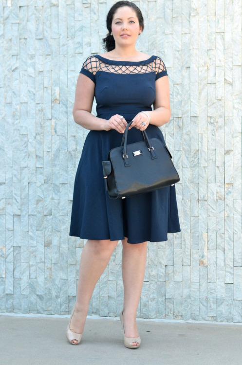 How perfect is this look from fashion blogger fave, Girl with Curves? Her modern spin on a retro silhouette mirrors our idea for Nine to Fine, our latest workwear-inspired stylebook! -Annie, Creative Stylist