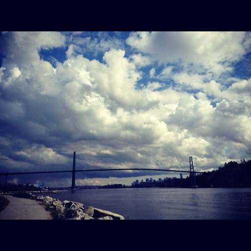 #vancity #bcbluebird #clouds (Taken with Instagram at Ambleside Off-Leash Dog Park)