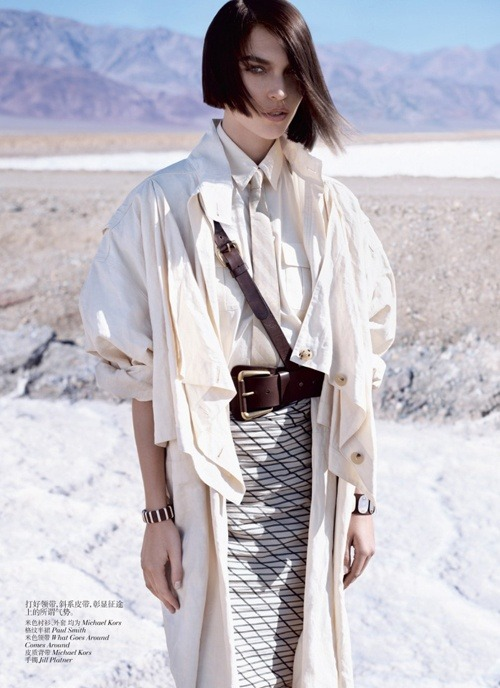 Stunning! Arizona Muse by Josh Olins for Vogue China May 2012 as 'Deserted Luxury'