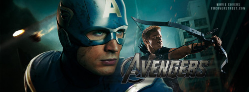 The Avengers Captain America and Hawkeye Facebook Cover
