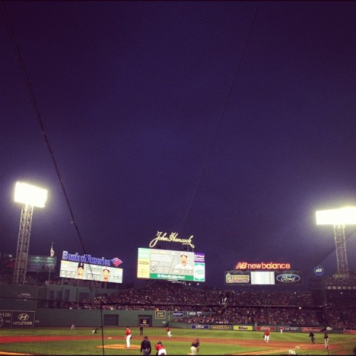 Night at Fenway (Taken with instagram)
