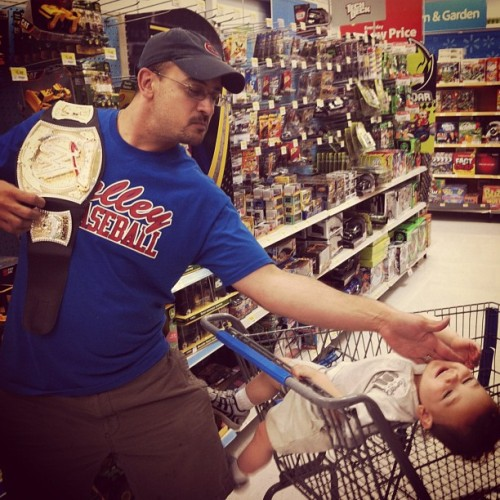 This kid thought he could talk smack to the People's Champ! In Wal-Mart no less! (Taken with Instagram)