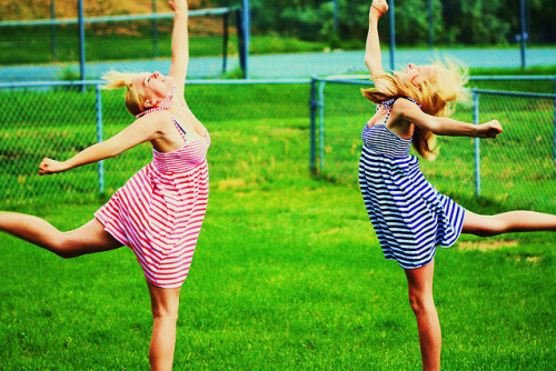 Reese & Hayley Synchronized Crazy Happy Dance! by Pink Sherbet Photography on Flickr.Lets let it all go ……..