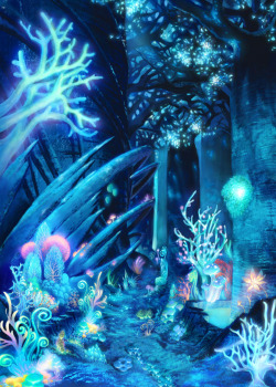 darksideoftheshroom:  allegorys:  Etrian Odyssey   mushrooms at night in a forest..right here..