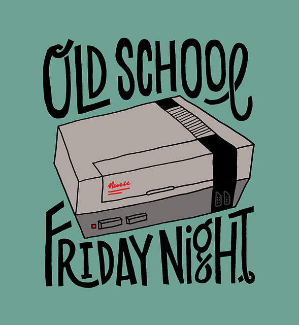 visualgraphic:  Old School Friday Night