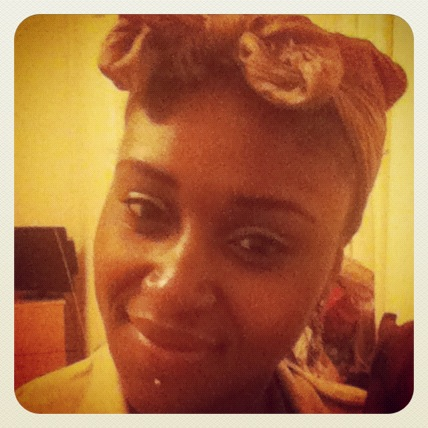 Funky headscarf with my go-to Bantu Knots underneath. Tomorrow, twist outs!