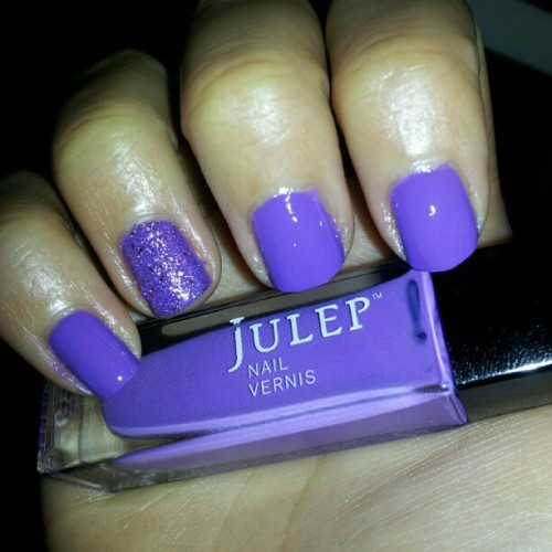 #notd #purple trying out my new nail polish from my julep maven box!  (Taken with instagram)