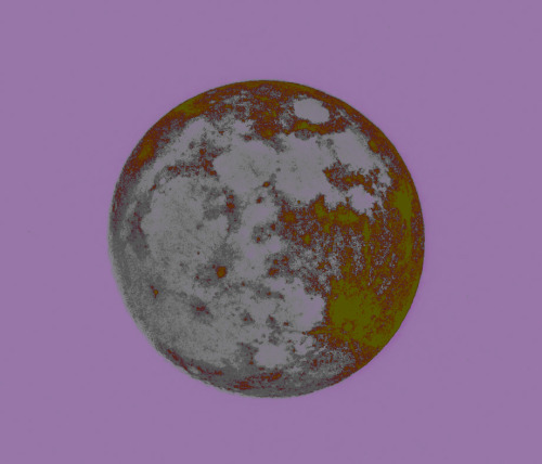 Tonight's moon……reversed