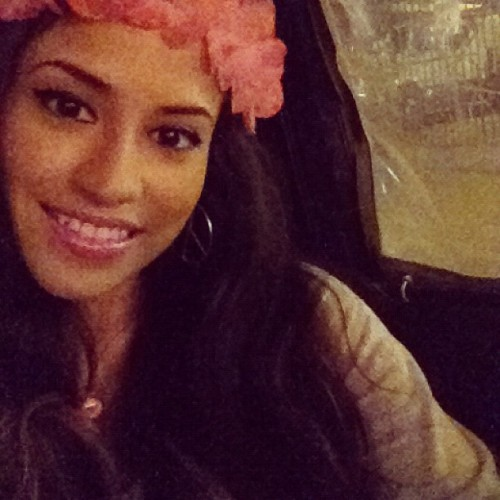 A flower and a tiara. Thank you fashion, I'm a happy girl. (Taken with instagram)