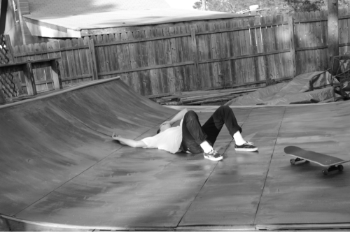 Me on tha ramp done fall down