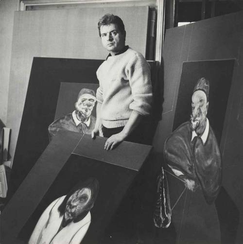 Francis Bacon in his studio, 1960 by Cecil Beaton