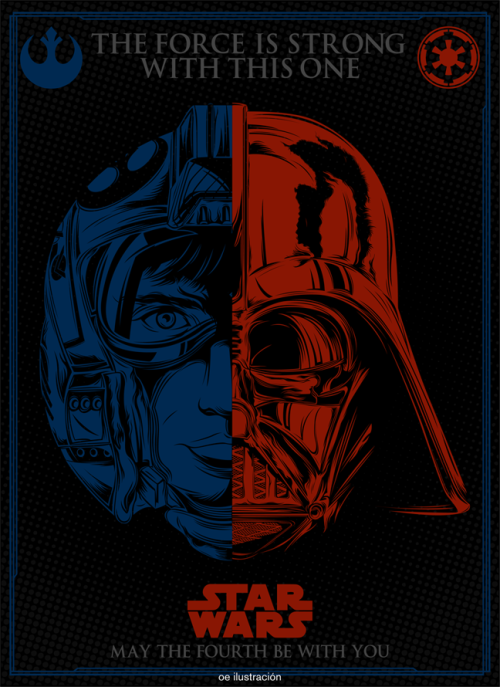 svalts:   May The 4th Be With You - 2012 Created by Omar Elí Blog | Facebook | deviantArt | Tumblr (Via: oe-ilustracion)