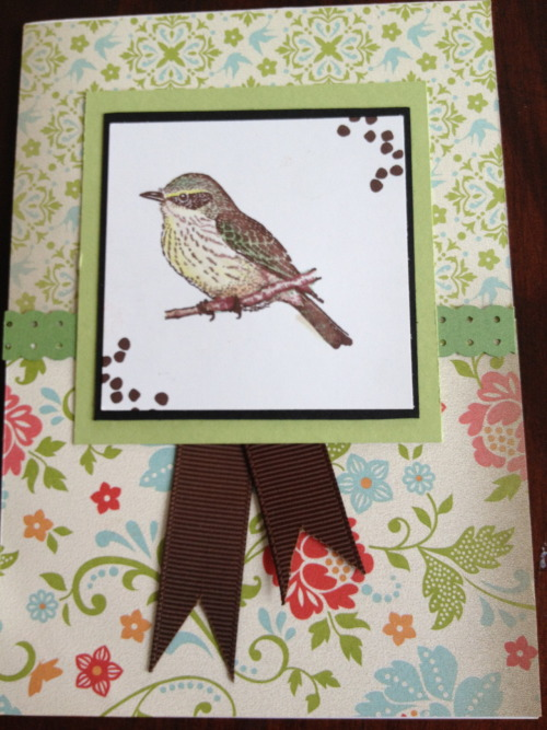 Another…I love this bird stamp…Do you like the colour?