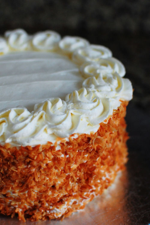 coconut lemon cake! (recipe)