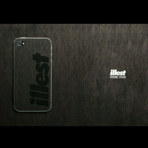 vincefatlace:  For you iPhone users. We now have the illest black wood iPhone covers in stock at our Los Angeles location.  (Taken with Instagram at Illest)