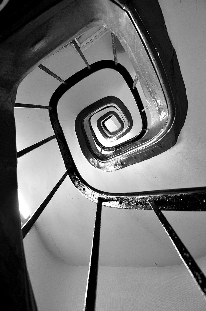 "Nicolas ""SKGZ"" Gaudin: Stairs To Hell. Paris, France, 2009."