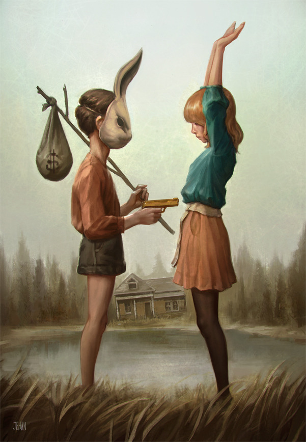 "ALAS I CANNOT SWIM  ARTIST - JEHAN CHOO *Ooh… this print is finally available in Jehan's Big Cartel store.  jehanchoo:  Alas I Cannot Swim — ""There is gold across the river but I don't want none. Gold is fleeting, gold is fickle, gold is fun"" - Laura Marling"
