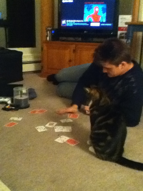 Duke likes to play poker