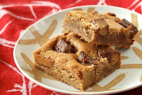 gastrogirl:  peanut butter cup blondies.