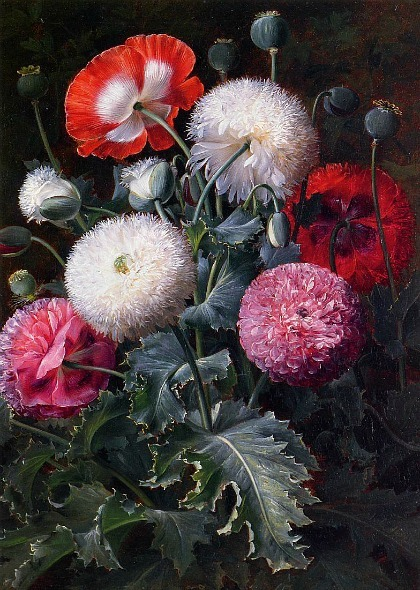 Johan Laurentz Jensen Still Life with Poppies 19th century