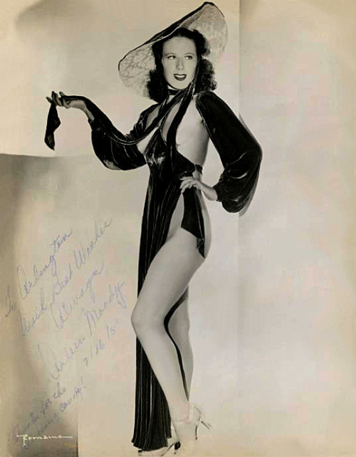 "Arlene Moody     Vintage 50's-era promo photo personalized: ""To Arlington — With Best Wishes Always, Arlene Moody — 7/16/'50..   p.s.  Thanks for the delicious candy!"""