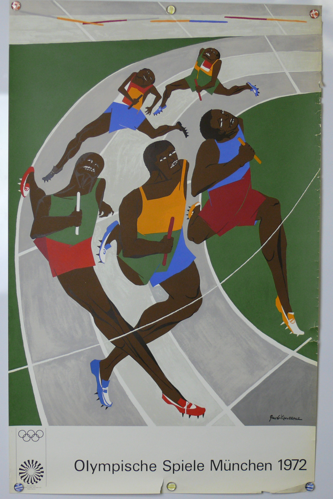 Munich 1972 Olympics (1972) | Jacob Lawrence  Original Poster for sale on eBay