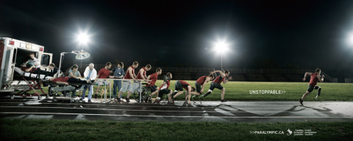 Canadian Paralympics Campaign Whoever had this idea, is brilliant. It's so well executed and makes such a perfect point. It's also very inspiring and encouraging.