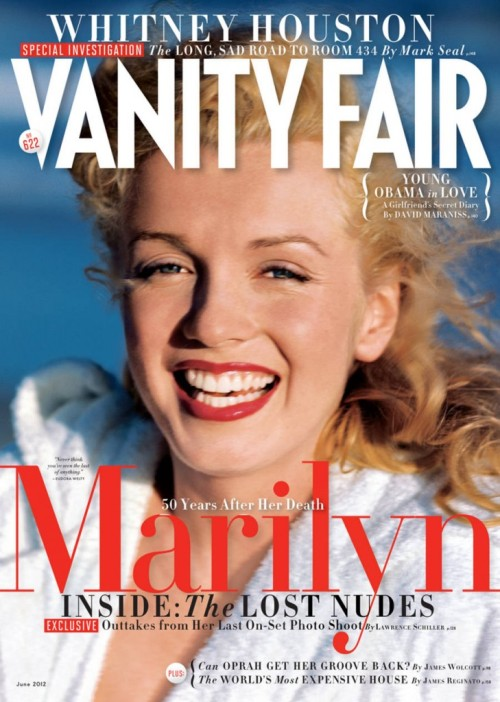 blackstuddedfashion:  Marilyn Monroe covers Vanity Fair June 2012