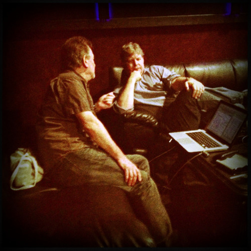 Tour Manager Mike Scoble and Producer/Director Ed Sanders are always working the angles and watching to make sure the ship stays on course.