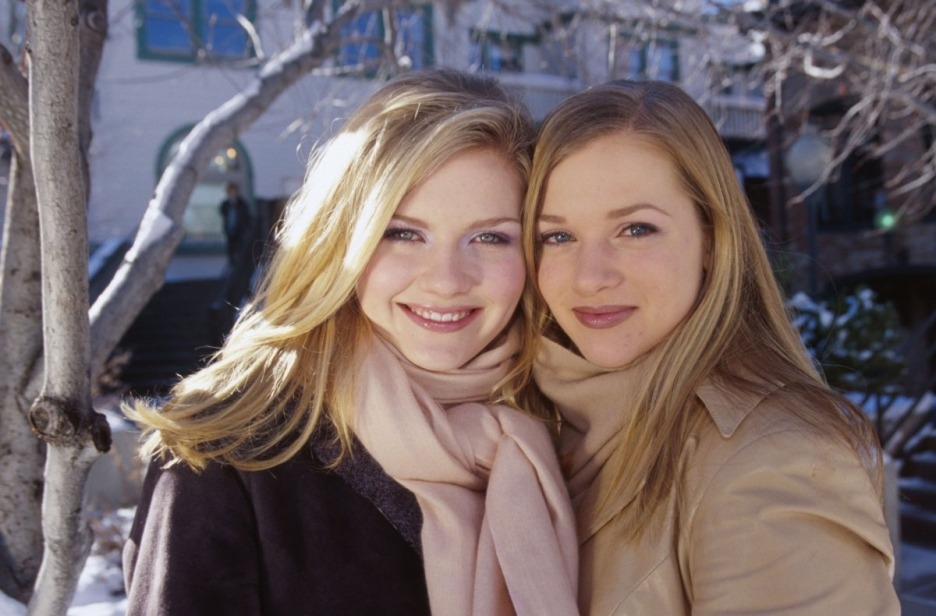 Kirsten Dunst and AJ Cook at Sundance Film Fesitval in 1999 for The Virgin Suicides