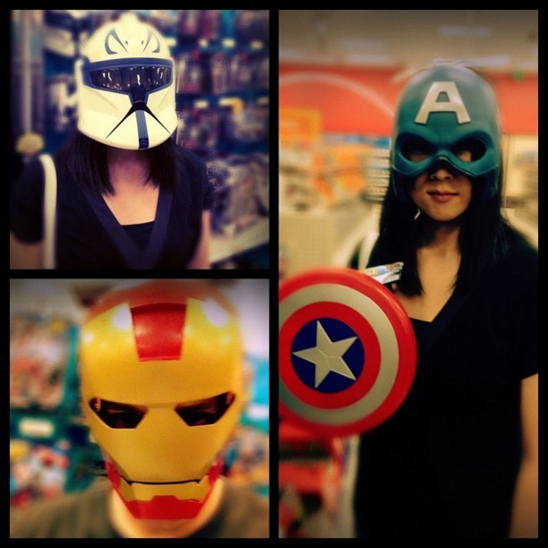Having fun at #target in honor of #Avengers and #StarWars day  (Taken with instagram)