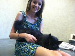 this cat was at the humane society…he kept crawling into my lap and he wouldn't let me leave. i wanted to steal him </3