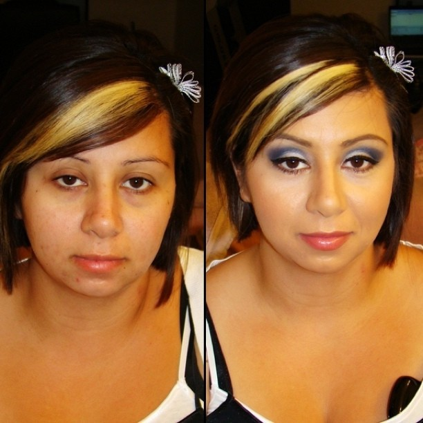 #beforeandafter #makeover #client #makeup #mua #eyeshadow #eyemakeup #smashbox #Stila #nars #Dior #urbandecay #Sephora #eyes #lips #mommymakeover (Taken with instagram)