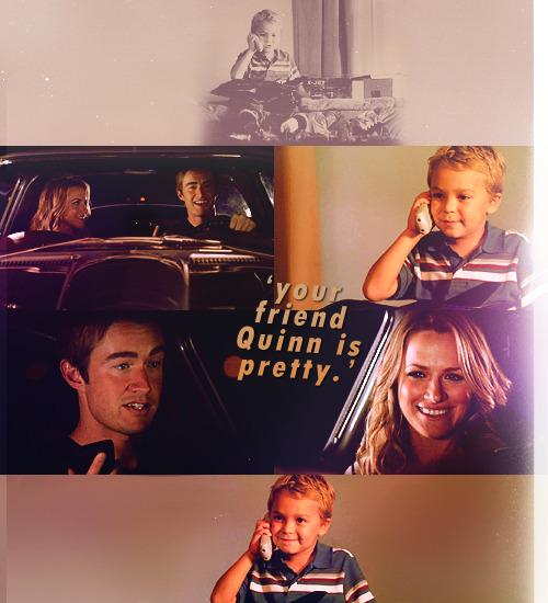 "kissyoulater:   one tree hill unaired scenes; season 9 l 9.11 ""Hey Logan, what's up buddy?""""Your friend Quinn is pretty.""""Yeah, she is pretty isn't she.""""Maybe she could be Jean Grey.""""You think she's Jean Grey pretty. Wow. I guess so but she'd have to dye her hair red… yep she's cool with it."""