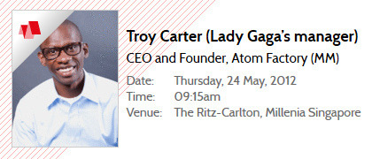Lady Gaga's manager to speak on All That Matters The speaker line-up for the upcoming Digital and Music Matters 2012 (from 22 to 26 May 2012) has been announced.Participants can look forward to hearing first-hand from the industry's elites, such as Troy Carter - Lady Gaga's manager.They will share their knowledge and experience discussing all that matters in the music and digital entertainment industry.