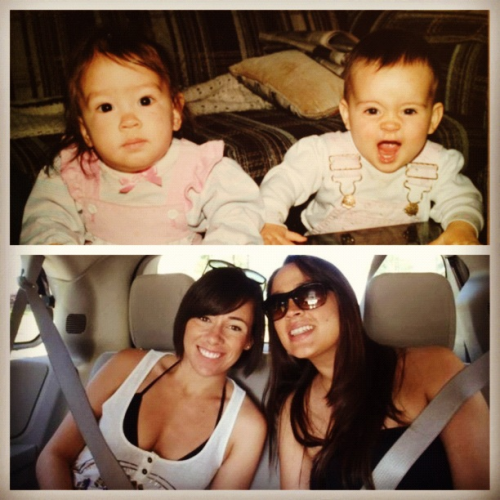 Ev and I. Babies and now. There's nothing like family.