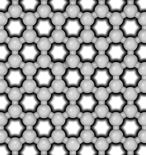 infinity-imagined:  A hexagonal lattice of carbon atoms in graphite.