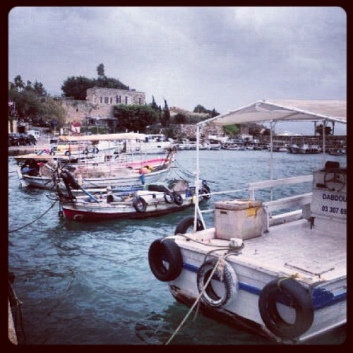 The storm is on its way 🌀 #boats #ocean #Lebanon #old #storm #fish #fisherman #sea #like4like #likeforlike #instagood #instagram #ig #picframe #beach #crab #town  (Taken with instagram)