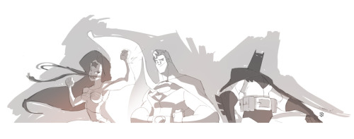 Justice League Busted. Drawings by cheeks-74. Three busts that are going to be available for SDCC. Another awesome Comic Con I'll miss. Tell me: who do you trust?