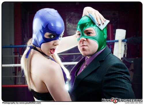 This one got on the Planet Money Blog.Mr. Money and his Lucha Lady! Happy #Luchaday Everyone. More Latex Luchas in the Gallery - and in the store where we just launched our Lucha Latex Line. I'll keep posting stuff from our guest stars throughout the day, there's some interesting people out there!
