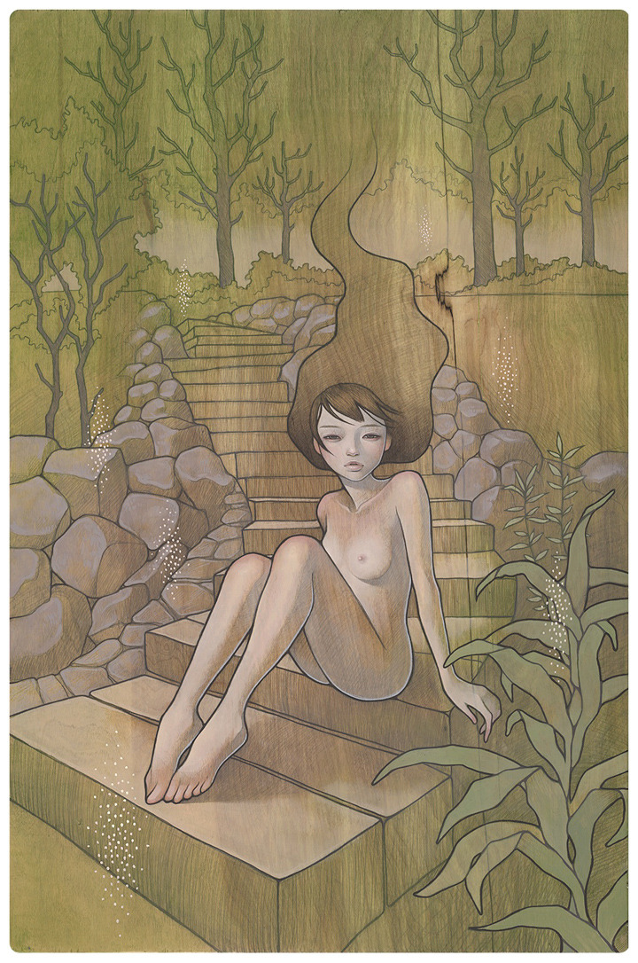 "erosart:  ""Warabeuta"" わらべ歌 a child's song by Audrey Kawasaki"