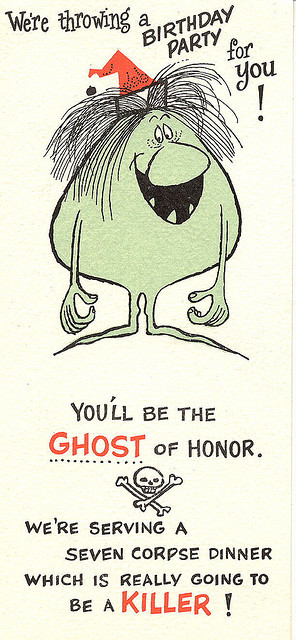 A ghoulish greeting card…