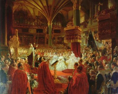 fuckyeahcreamtea:  Coronation of Wilhelm I., King of Prussia by Adolph Menzel (1861)