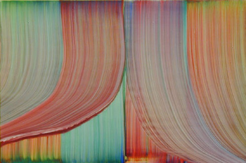 Bernard Frize, Zoom, 2003, acrylic, resin on canvas, 80 x 120 cm.