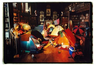 "offrivolousandfashion:  To ""camp out"" like this would be amazing."