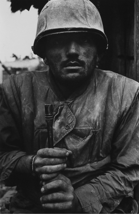 staxert:  American soldier, Hué - Vietnam, 1968 By Don McCullin  The thousand-yard stare, the futility of war, the damaging experience of battle… F**king PWR man. I'll start posting Don McCullin photographs from time to time.