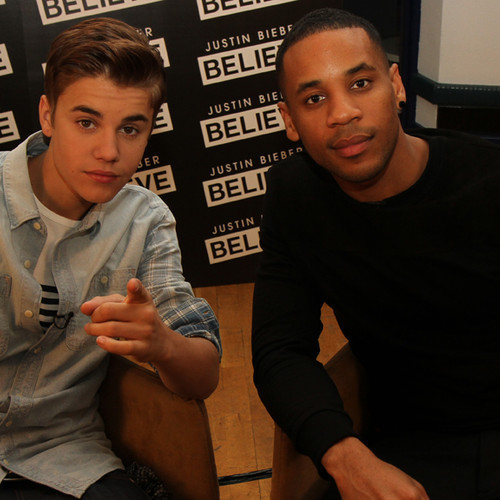 bieber-news:  Justin and Reggie Yates in London last week!