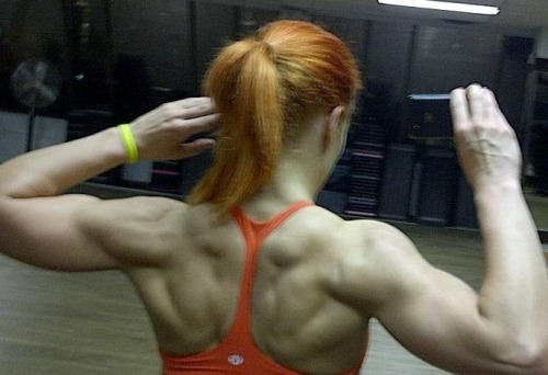strongangels:  Super back on this redhead.